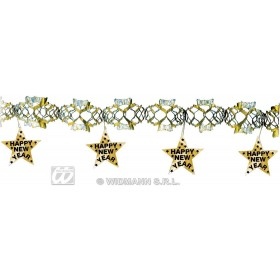 New Yr Laser Garland Gold 3Metre - Fancy Dress