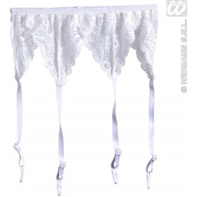 Garter Belt - White Lace - Fancy Dress (Christmas)