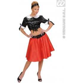 Xl Size Satin Black Tie Tops - Fancy Dress