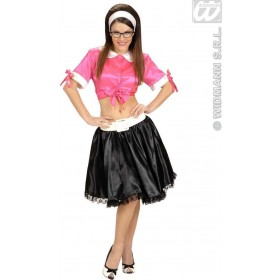 Xl Size Satin Pink Tie Tops - Fancy Dress