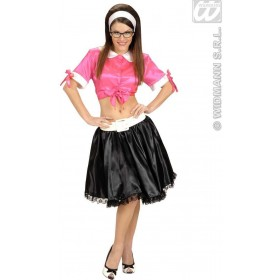 Satin Pink Tie Tops - Fancy Dress