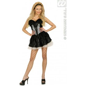 Black Sequin & Lace Corsets - Fancy Dress