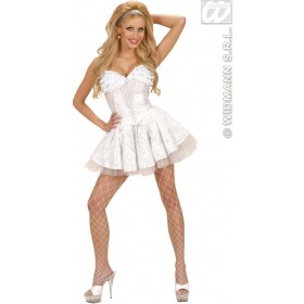 White Sequin & Lace Corsets - Fancy Dress