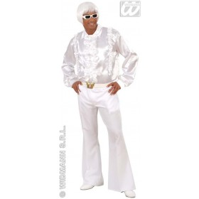 Man Size Heavy Fabric 70S Pants White Costume (1970S)