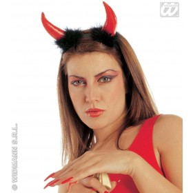 Devil Horns Vinyl/Marabou - Fancy Dress (Halloween)