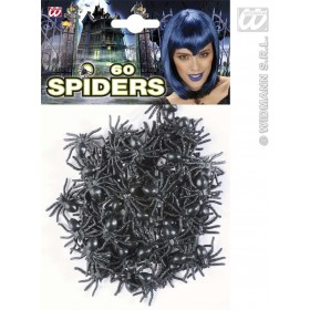 Set Of 60 Spiders - Fancy Dress (Halloween)