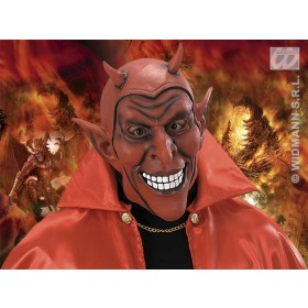 Smiling Devil Mask Red - Fancy Dress (Halloween)