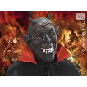 Smiling Devil Mask Black - Fancy Dress (Halloween)