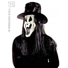 Ghost Mask Gid With Hat & Hair - Fancy Dress (Halloween)
