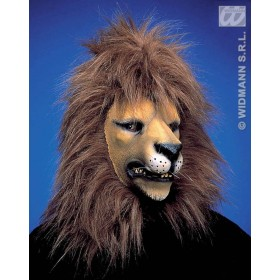 Lion Mask W/Plush Hair - Fancy Dress (Animals)