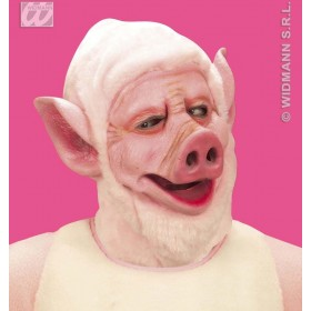 Pig Mask With Plush Hood - Fancy Dress (Animals)