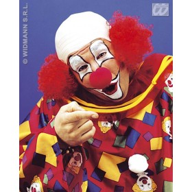 Deluxe Clown Baldhead 3Col - Fancy Dress (Clowns)