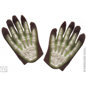 3D Gid Skeleton Gloves Child - Fancy Dress (Halloween)