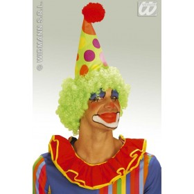 Cone Clown Hat W/Neon Curly Wig - Fancy Dress (Clowns)