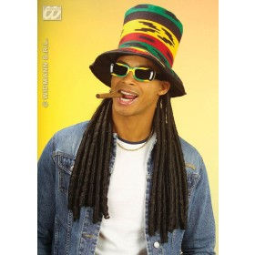 Buju Rasta Top Hat W/Dreadlocks - Fancy Dress