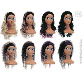 Wig W/Headband 2Styles 8Cols - Fancy Dress