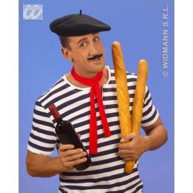 Beret Black Wool - Fancy Dress (Cultures , French)