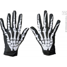 Skeleton Gloves - Fancy Dress (Halloween) Sanc8526S