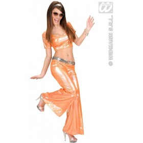 Holographic Sequin Top - Orange - Fancy Dress