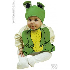 Baby Froggy Set Bonnet & Bib Fancy Dress Costume (Animals)
