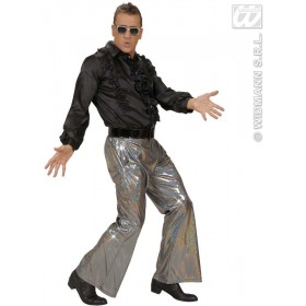 Holographic Sequin Pants - Silver - Fancy Dress