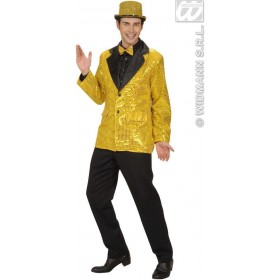 Sequin Jacket W/Satin Collar - Gold - Fancy Dress