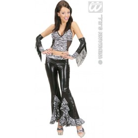 Zebra Pants Fancy Dress Costume Ladies (Animals)