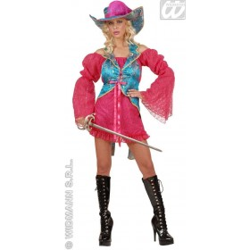 Madame Musketeer Pink/Blue Ladies Costume Size 10-12 M (Musketeers)