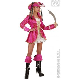 Pirate Captain Pink Ladies Fancy Dress Costume Ladies (Pirates)