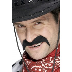 Cowboy Tash - Fancy Dress Mens (Cowboys/Indians)