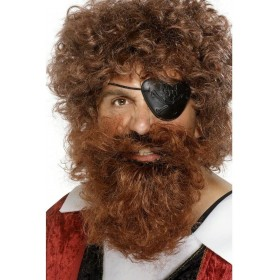 Pirate Beard Brown - Fancy Dress Mens (Animals)