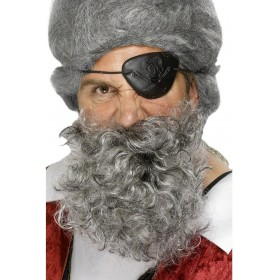 Pirate Beard White - Fancy Dress Mens (Animals)