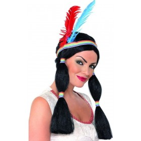 Indian Princess Wig - Fancy Dress Ladies (Cowboys/Indians)
