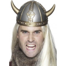Viking Helmet Pvc - Fancy Dress (Viking)