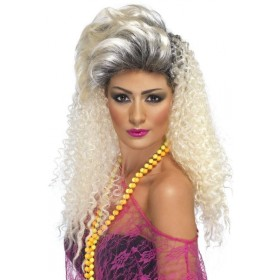 80'S Crimp Wig (1980S Fancy Dress Wigs) - Blonde