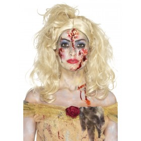 Zombie Fairy Tale Make Up Kit, Aqua Fancy Dress Accessory