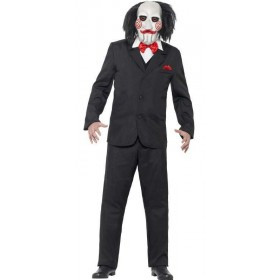 Mens Official Saw Movie Jigsaw Halloween Fancy Dress Costume