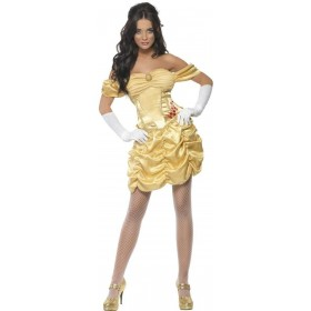 Fever Golden Princess Fancy Dress Costume Ladies (Fairy Tales , Royalty , Sexy)