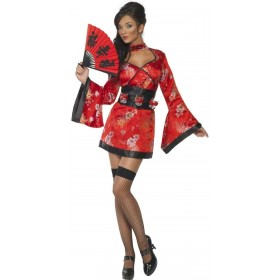 Fever Vodka Geisha Fancy Dress Costume Ladies (Oriental)