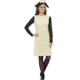 Ladies White Shaun The Sheep Fancy Dress Costume
