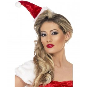 Mini Santa Hat On Headband (Christmas Hats)