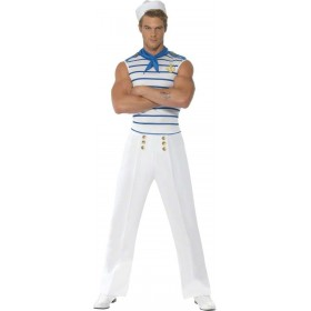 Fever Male French Sailor Fancy Dress Costume Mens (French , Sailor)