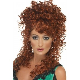 Saloon Girl Wig Fancy Dress Ladies - Ginger