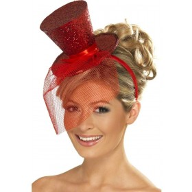 Fever Mini Top Hat On Headband Fancy Dress Ladies