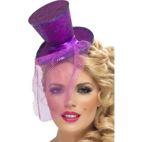 Fever Mini Top Hat On Headband (Sexy Fancy Dress Hats)