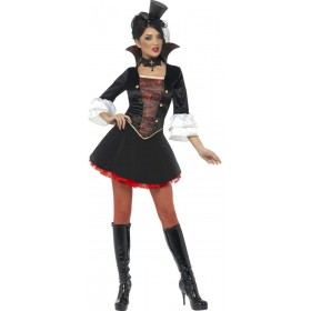 Fever Vampire Princess Fancy Dress Costume Ladies (Royalty)
