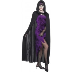 Hooded Vampire Cape - Fancy Dress (Halloween)