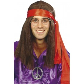 Hippy Man Kit - Fancy Dress Mens (1960S) - Brown