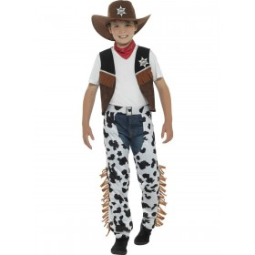 Texan Cowboy Costume Brown Fancy Dress