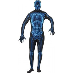 X Ray , Second Skin Suit Fancy Dress Costume